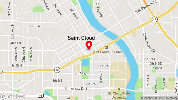 Google Map of 25-Eighth Avenue South, St. Cloud, MN 56301