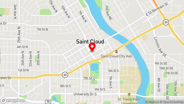 Google Map of 913 West St. Germain, Saint Cloud, MN 56301