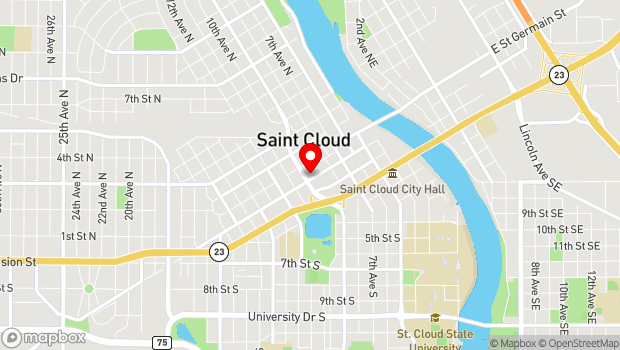 Google Map of 913 West St. Germain Street, Saint Cloud, MN 56301