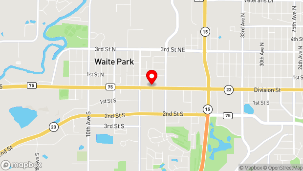 Google Map of 109 Division St, Waite Park, MN 56387