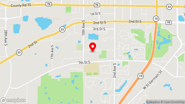 Google Map of 710 Sundial Drive, Waite Park, MN 56387