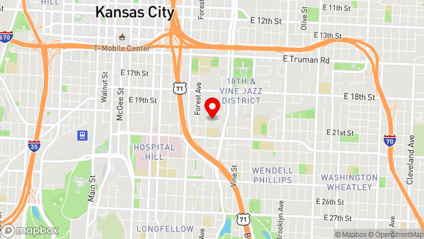 Google Map of 2011 Tracy Avenue, Kansas City, MO 64108