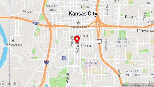 Google Map of 1820 McGee, Kansas City, MO 64108