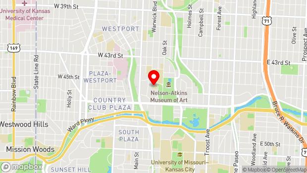 Google Map of 4538 Warwick Blvd, Kansas City, MO 64111