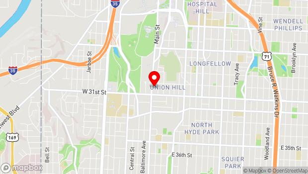 Google Map of 3013 Main Street, Kansas City, MO 64108