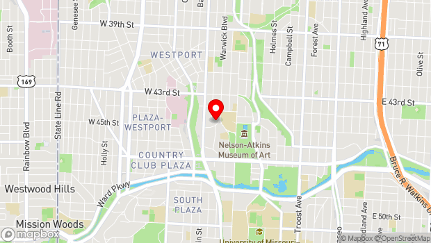 Google Map of 4420 Warwick Blvd, Kansas City, MO 64111