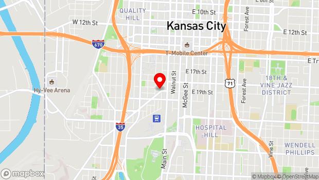 Google Map of 106 Southwest Blvd, Kansas City, MO 64106