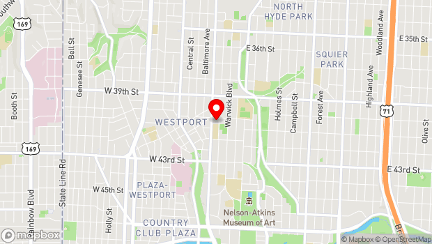 Google Map of 11 E 40th St, Kansas City, MO 64111