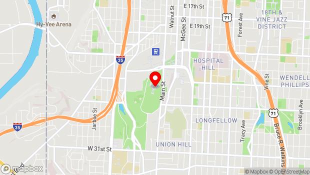 Google Map of 2 Memorial Drive, Kansas City, MO 64108