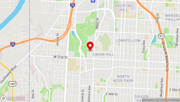 Google Map of 2012 Baltimore Ave, Kansas City, MO 64108