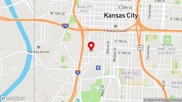 Google Map of 310 W. 19th Terrace, Kansas City, MO 64108