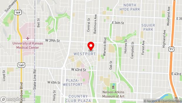 Google Map of 201 Westport Road, Kansas City, MO 64111