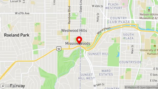 Google Map of 1900 Shawnee Mission Parkway, Mission Woods, KS 66205