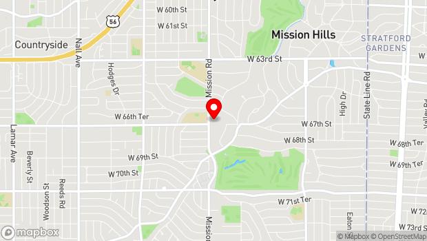 Google Map of 6641 Mission Rd, Prairie Village, KS 66208
