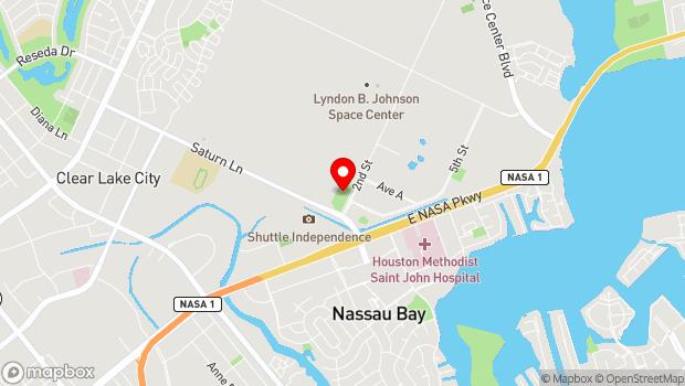 Google Map of 1601 NASA Road 1, Houston, TX 77058