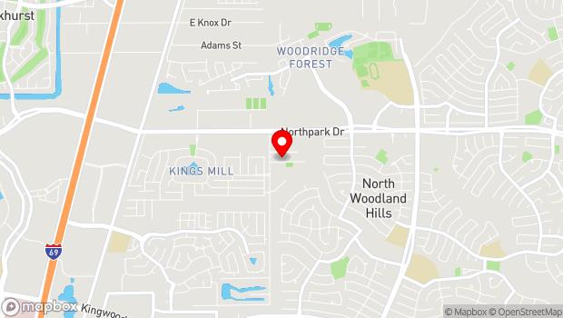 Google Map of 804 Russell Palmer Rd., Kingwood, TX 77339