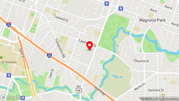 Google Map of 6510 Lawndale Street, Houston, TX 77023