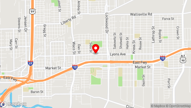 Google Map of 5017 Lyons Ave., Houston, TX 77020