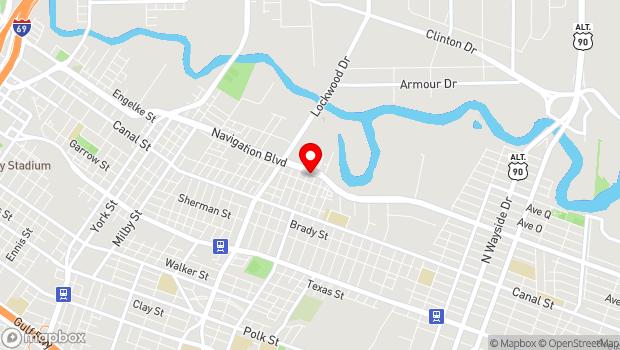Google Map of 5102 Navigation Blvd., Houston, TX 77011