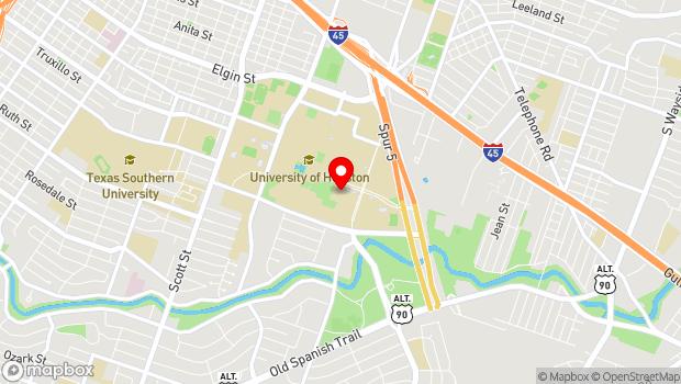 Google Map of 4800 Calhoun Rd., Houston, TX 77004