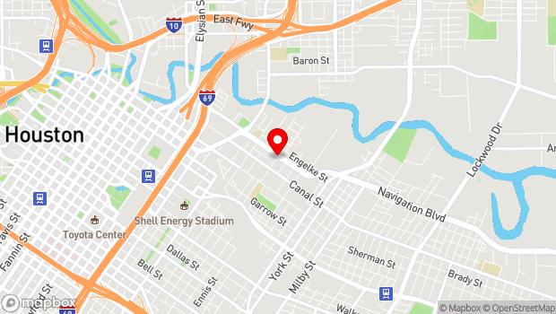 Google Map of 2800 Navigation Boulevard, Houston, TX 77003