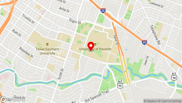 Google Map of 3800 Cullen Blvd., Houston, TX 77204-0001