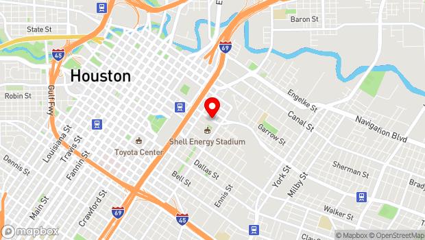 Google Map of 2200 Texas Street, Houston, TX 77003