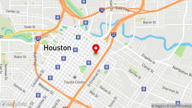Google Map of 501 Crawford St., Houston, TX 77002