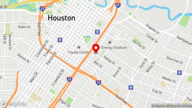 Google Map of 2101 Polk Street, Houston, TX 77003