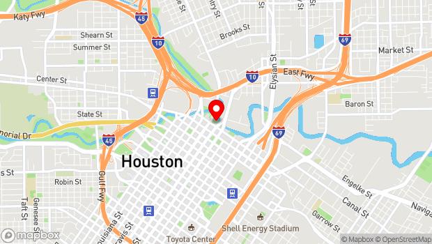 Google Map of Pierce Elevated to Buffalo Bayou, Houston, TX 77002