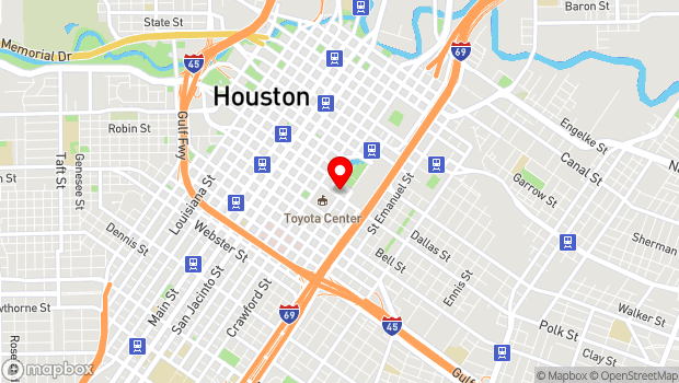 Google Map of 1600 Lamar, Houston, TX 77010
