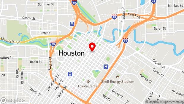 Google Map of 1117 Texas Avenue, Houston, TX 77002