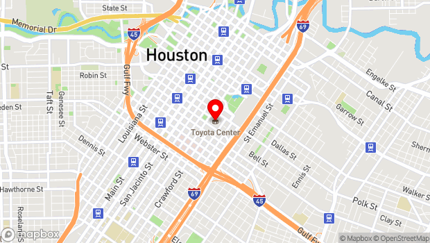 Google Map of 1510 Polk Street, Houston, TX 77002