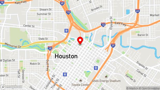 Google Map of 301 Milam St, Houston, TX 77002