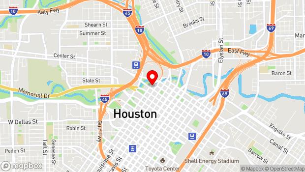 Google Map of 601 Preston St., Houston, TX 77002