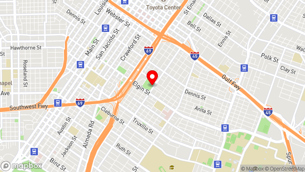 Google Map of 3018 Emancipation Avenue, Houston, TX 77004