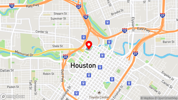 Google Map of 501 Texas at Smith, Houston, TX 77002