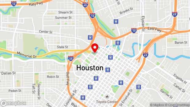 Google Map of 501 Texas Ave., Houston, TX 77002