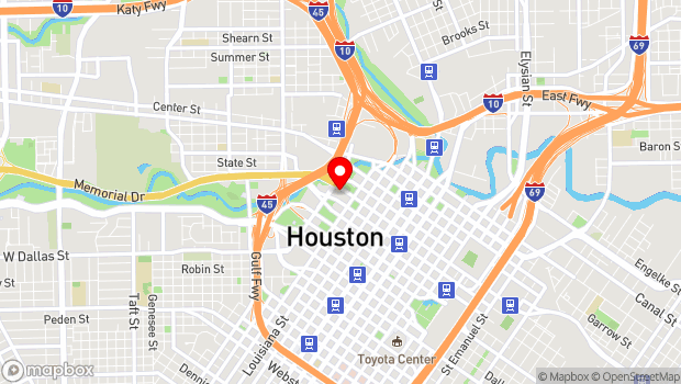Google Map of 520 Texas Avenue, Houston, TX 77002