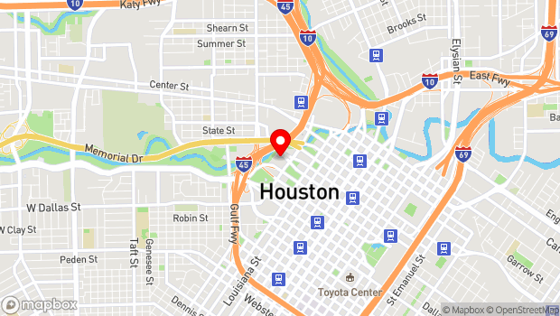 Google Map of 800 Bagby, Houston, TX 77002
