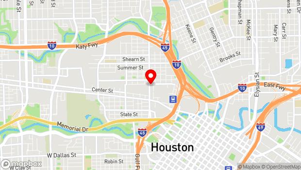 Google Map of 1230 Houston Avenue, Houston, TX 77007