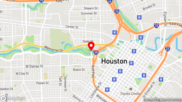 Google Map of 103 Sabine St., Houston, TX 77007