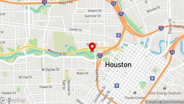 Google Map of 105 Sabine St, Houston, TX 77007