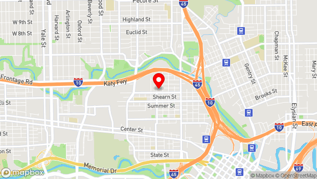 Google Map of 1824 Spring St., Houston, TX 77007