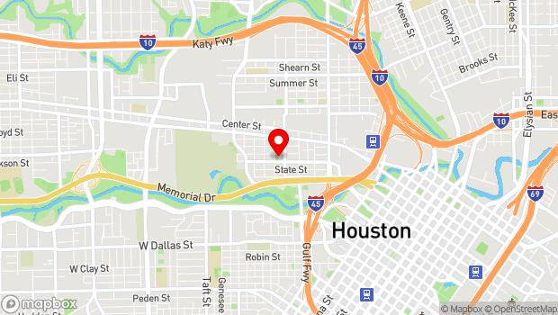 Google Map of 1900 Kane Street, Houston, TX 77007
