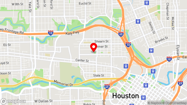 Google Map of 2000 Edwards Street, Houston, TX 77007