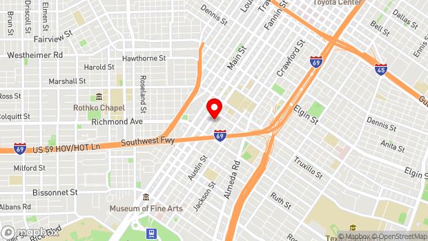 Google Map of 4101 San Jacinto, Ste. 116 , Houston, TX 77004