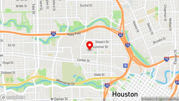 Google Map of 2101 Winter Street, Houston, Tx 77007