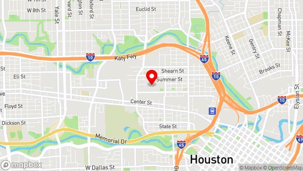 Google Map of 2101 Winter St, Houston, TX 77007