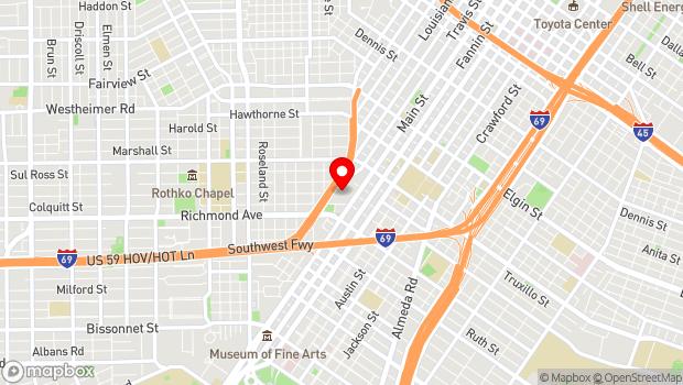 Google Map of 4100 Main, Houston, TX 77002
